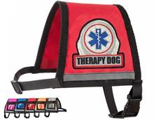 Red Reflective Therapy Dog Vest with Zipper Pocket