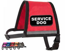 Red Reflective Service Dog Vest with Zipper Pocket