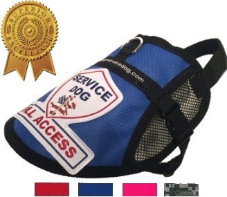 Blue Premium Small Mesh Service Dog Vest