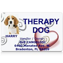 Therapy Dog Customized ID Card