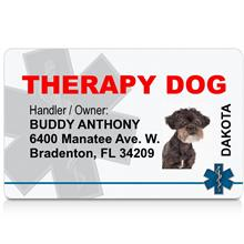 Therapy Dog ID Card