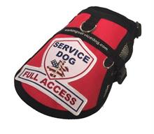 Red Service Dog Full Access Mesh Vest