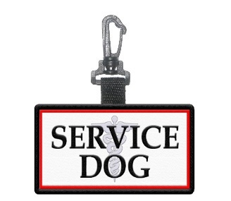 Service Dog Patch Tag