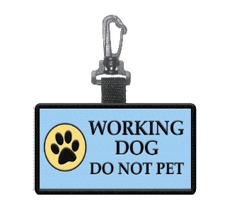 Working Do Not Pet Patch Clip