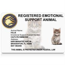 emotional support cat id card