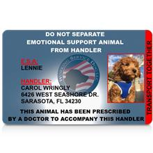 do not separate emotional support animal from handler id card