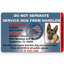 service dog id card do not separate
