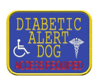 Diabetic Alert Service Dog Patch