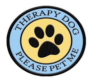 Therapy Dog Please Pet Me Patch