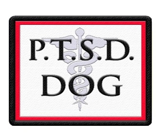 PTSD SERVICE DOG PATCH