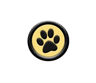 Tiny Paw Print Patch