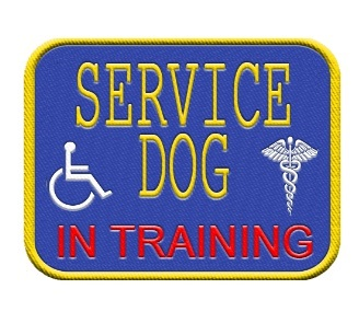 Service Dog In Training Patch