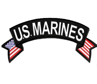 U.S. MARINES Rocker Patch with American Flag