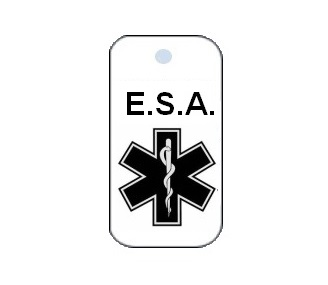Emotional Support Dog Collar Tag
