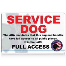 uncustomized service dog id card