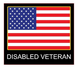 Disabled Veteran Window Decal