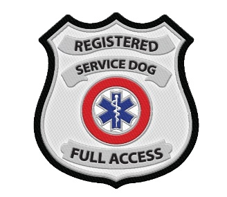 Registered Service Dog Metallic Patch