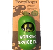 Working Service Dog Poop Bags and Holder