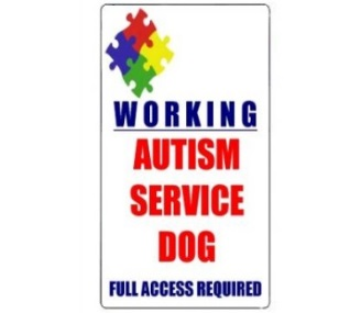 Working Autism Service Dog ID Card