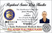 registered service dog handler