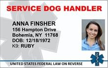 Service Dog Handler ID Card