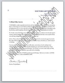 Esa Doctors Note Geccetackletartsco - Esa letter template
