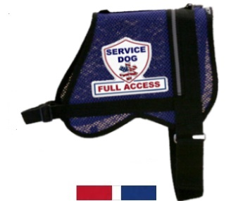 Blue Mesh Full Access Service Dog Vest