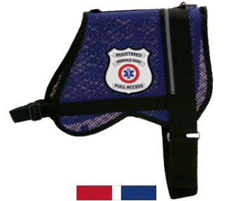 Blue Registered Service Dog Mesh Vest