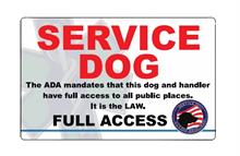 Un customized Service Dog ID Card