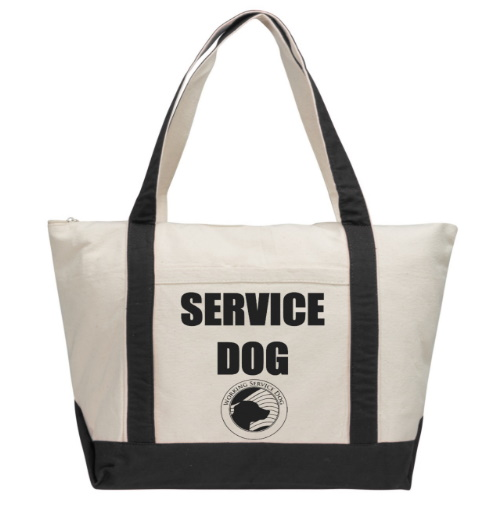 service dog tote bag
