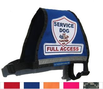 Blue Complete Service Dog Full Access Reflective Vest